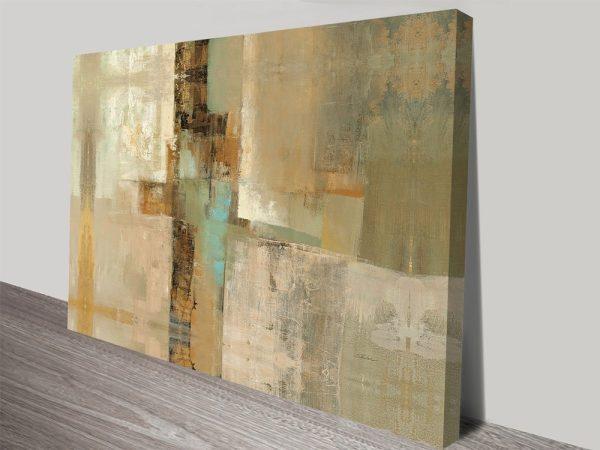 Peninsula Abstract Painting Printed Art