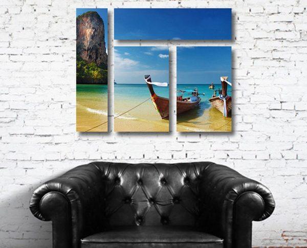 Thailand Paradise 4 Panel on Canvas