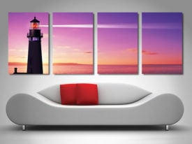 Lighthouse at Sunset Canvas Art Print Queenland