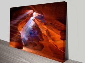 red cavern cheap online custom art on canvas