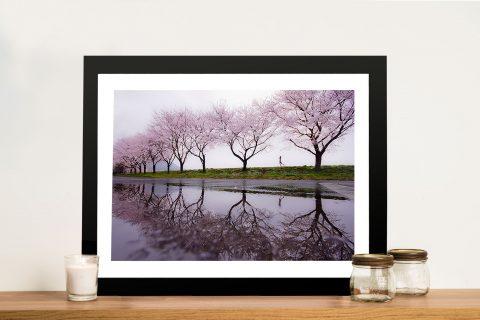 Cherry Blossom Lane Framed Wall Art
