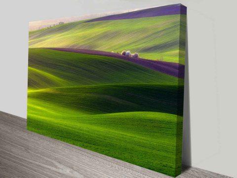 rolling hills wall art canvas print