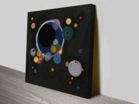 Several Circles Wassily Kandinsky Canvas Print