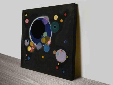 Several Circles Wassily Kandinsky Canvas Print