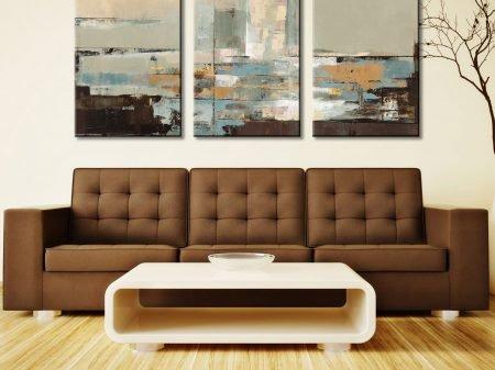 Morning Haze Triptych Silvia Vassileva Canvas Picture