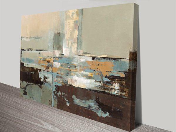 Morning Haze Abstract Art Canvas Print by Silvia Vassileva