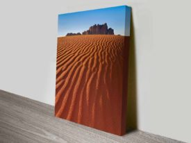 the desert mountain wall art canvas print