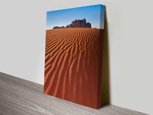 the desert mountain wall art canvas print
