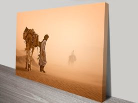 crossing the desert photo canvas wall print
