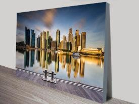Singapore Skyline Marina Bay City Photograph Wall Art