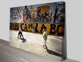 Brazilian Street Football Modern Street Art Canvas