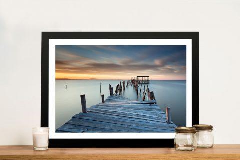 Sunken Pier Seascape Wall Art Canvas Print Australia