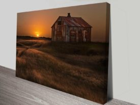the peaceful barn wall art canvas print