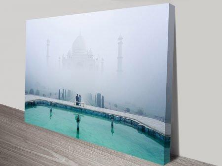 Taj Mahal Haze India Ready to Hang Photographic Canvas Art