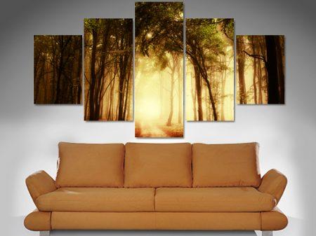 mystical woods 5 panel wall art canvas print