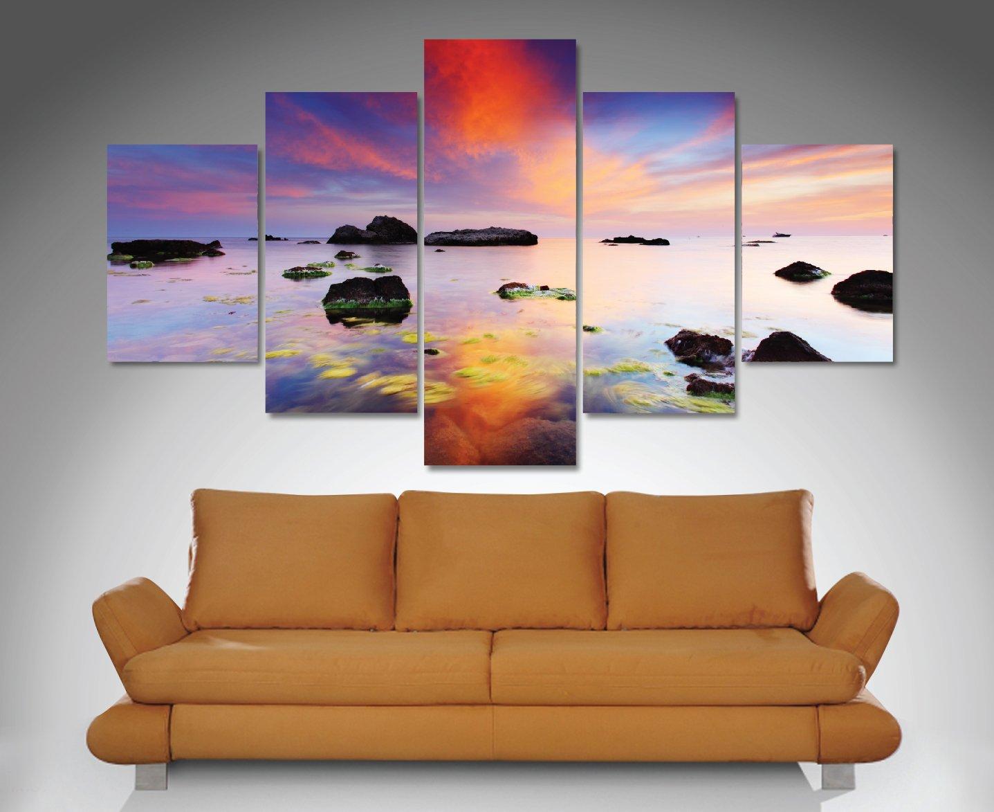 Perfect Sunrise 5-Panel Canvas Art Print