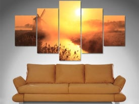5 Panel Dusk Sentinel canvas print set