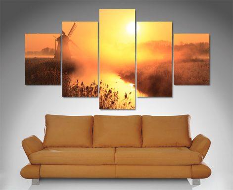 5 Panel Dusk Sentinel canvas print set