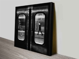 subway doors photograph on canvas cheap online