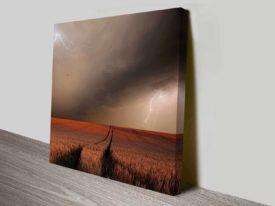 thundering wheat wall art canvas print
