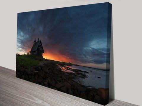 sunset shack custom photo print to canvas