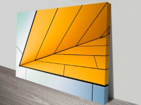 orange incursion design photo on canvas