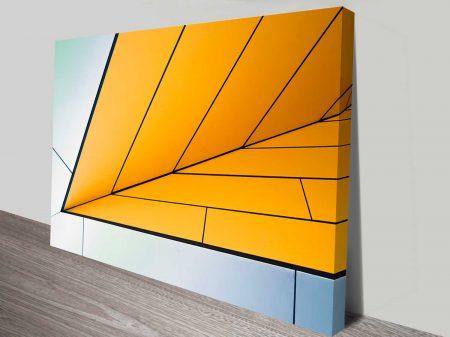 orange incursion design photo on canvas