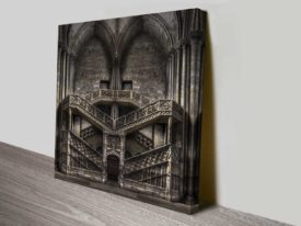 gothic stairway stretched canvas photo print online