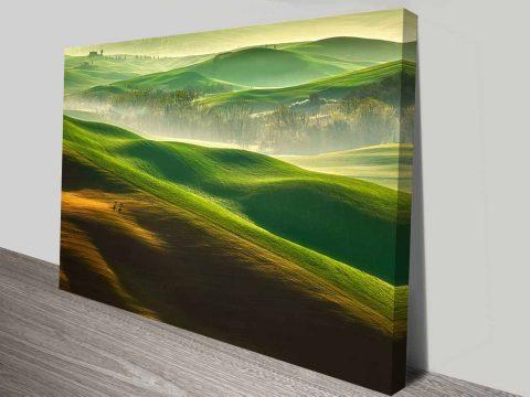 the green dream wall art canvas print