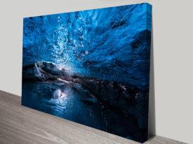 Skaftafell Ice Cave Glacier Iceland Mounted Art Print Australia