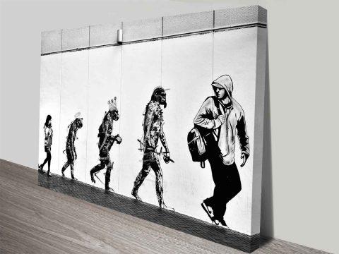 Dolk Evolution Street Art Graffiti Modern Canvas Art Ready to Hang