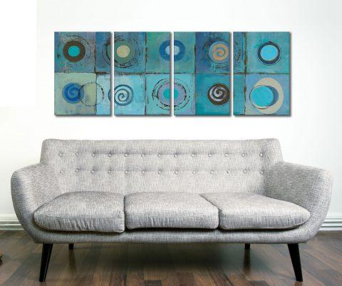 Underwater Mosaic Crop 4 Piece Artwork