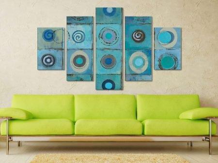 Underwater Mosaic Crop Five Panel Canvas Photo Prints