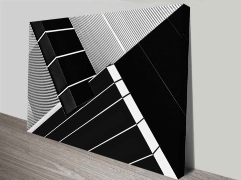 criss cross section architecture photo to canvas
