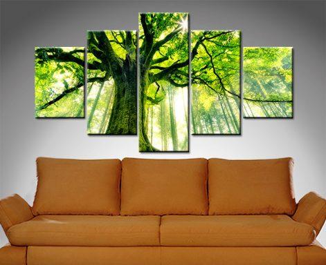 Tree Diamond Shaped Split Canvas Print