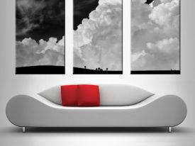 Nimbus Slopes Black & White Triptych Wall Art
