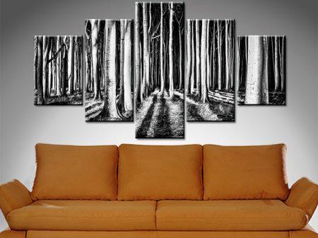 wooded secrets 5 panel wall art canvas print