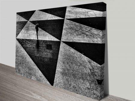 Checkerboard Triangles Print on Canvas