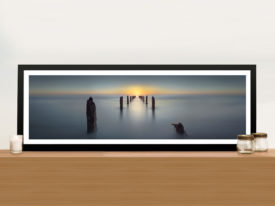 Last Light Yanay Jetty Panoramic Wall Art Print On Canvas