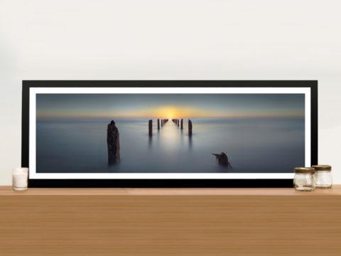 Last Light Yanay Jetty Panoramic Wall Art Print On Canvas