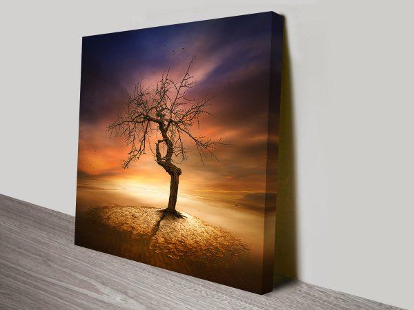 magical lone tree wall art canvas australia