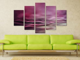 Water Colours Five Panel Canvas Art For Sale