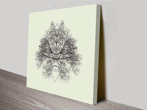 Tangled Trees Abstract Ready to Hang Mounted Art Print Australia