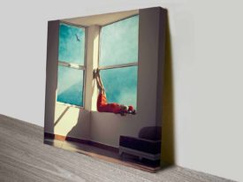 reclining windows custom photo print wall art