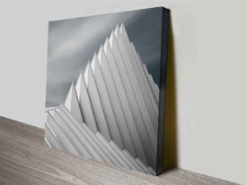 waves on the roof design photo on canvas