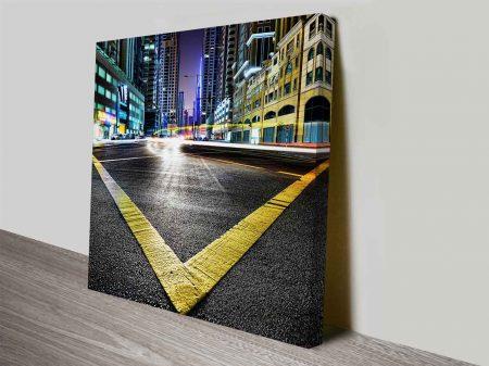 the street corner cheap photo art on canvas