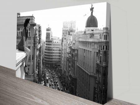 on the ledge custom photo to canvas print