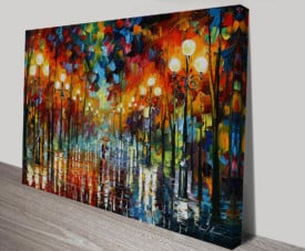 A DATE WITH THE RAIN LEONID AFREMOV Wall PRINTS