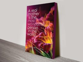 a real mother qoute wall art canvas print