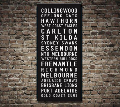 AFL Teams Tram Scroll Wall Art